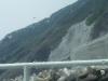 青ヶ島・港・崩落した道の方向