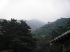 バンガローから山