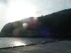 御蔵島港から集落までの坂