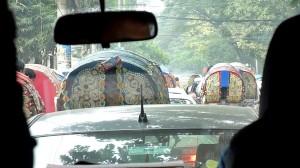 リキシャ渋滞