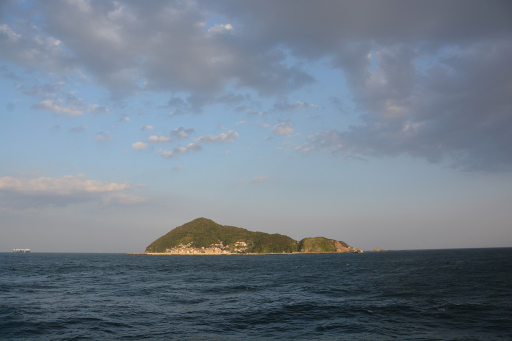 Overview of Kami-shima. From ferry between Irago and Toba.
