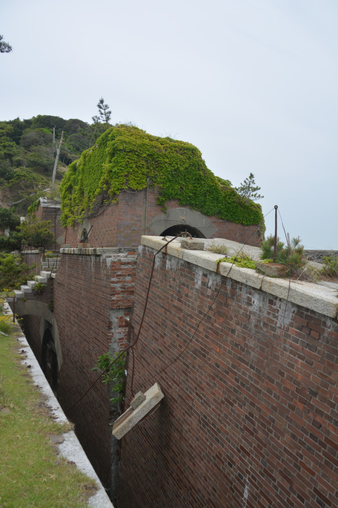 Remains of a gun battery