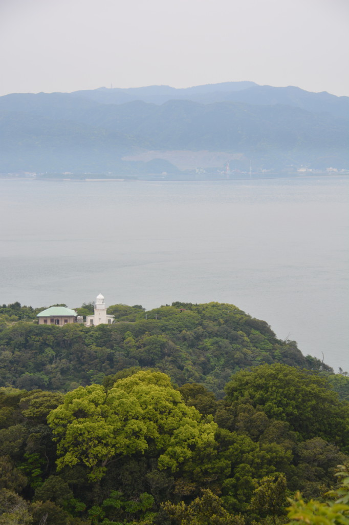 A distant view of Tomogashima lighthouse